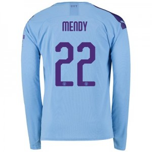 Manchester City Cup Home Shirt 2019-20 - Long Sleeve with Mendy 22 printing