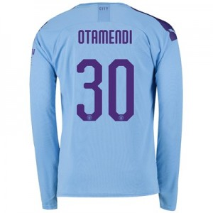 Manchester City Cup Home Shirt 2019-20 - Long Sleeve with Otamendi 30 printing