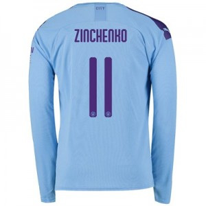 Manchester City Cup Home Shirt 2019-20 - Long Sleeve with Zinchenko 11 printing