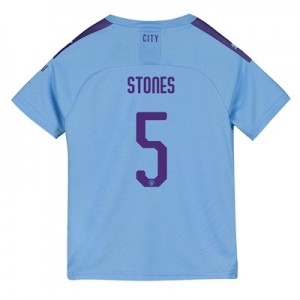 Manchester City Cup Home Shirt 2019-20 - Kids with Stones 5 printing