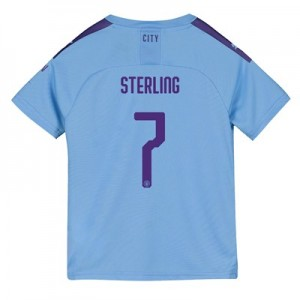 Manchester City Cup Home Shirt 2019-20 - Kids with Sterling 7 printing
