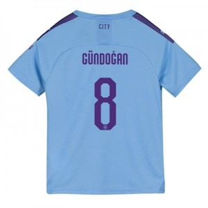 Manchester City Cup Home Shirt 2019-20 - Kids with Gündogan 8 printing