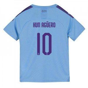 Manchester City Cup Home Shirt 2019-20 - Kids with Kun Agüero  10 printing