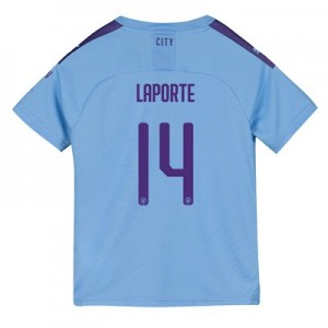 Manchester City Cup Home Shirt 2019-20 - Kids with Laporte 14 printing