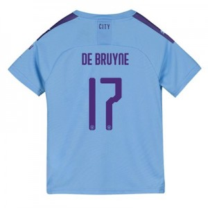 Manchester City Cup Home Shirt 2019-20 - Kids with De Bruyne 17 printing