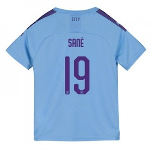 Manchester City Cup Home Shirt 2019-20 - Kids with Sané 19 printing
