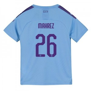 Manchester City Cup Home Shirt 2019-20 - Kids with Mahrez 26 printing