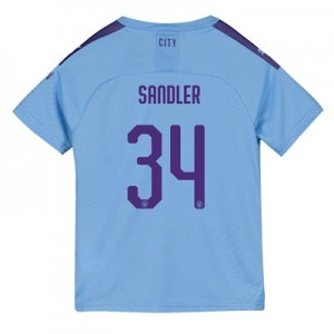 Manchester City Cup Home Shirt 2019-20 - Kids with Sandler 34 printing