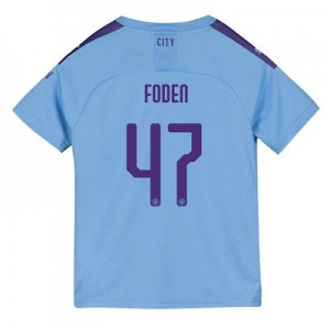 Manchester City Cup Home Shirt 2019-20 - Kids with Foden 47 printing