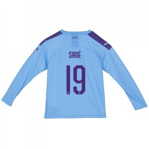 Manchester City Cup Home Shirt 2019-20 - Long Sleeve - Kids with Sané 19 printing