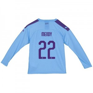 Manchester City Cup Home Shirt 2019-20 - Long Sleeve - Kids with Mendy 22 printing