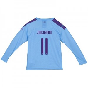 Manchester City Cup Home Shirt 2019-20 - Long Sleeve - Kids with Zinchenko 11 printing