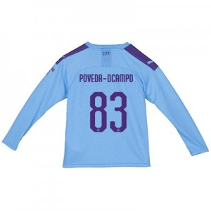 Manchester City Cup Home Shirt 2019-20 - Long Sleeve - Kids with Poveda-Ocampo 83 printing