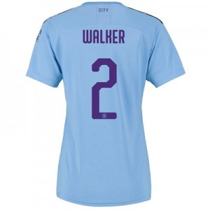 Manchester City Cup Home Shirt 2019-20 - Womens with Walker 2 printing