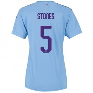 Manchester City Cup Home Shirt 2019-20 - Womens with Stones 5 printing