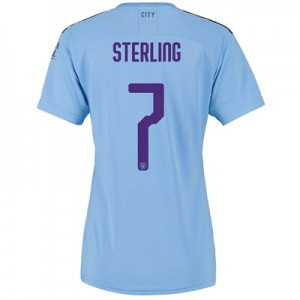 Manchester City Cup Home Shirt 2019-20 - Womens with Sterling 7 printing