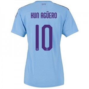 Manchester City Cup Home Shirt 2019-20 - Womens with Kun Agüero  10 printing