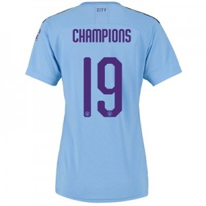 Manchester City Cup Home Shirt 2019-20 - Womens with Champions 19 printing