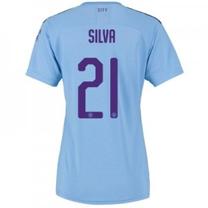 Manchester City Cup Home Shirt 2019-20 - Womens with Silva 21 printing