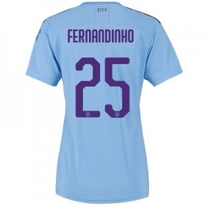 Manchester City Cup Home Shirt 2019-20 - Womens with Fernandinho 25 printing
