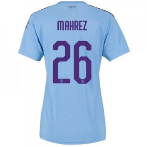 Manchester City Cup Home Shirt 2019-20 - Womens with Mahrez 26 printing
