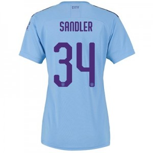 Manchester City Cup Home Shirt 2019-20 - Womens with Sandler 34 printing