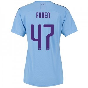 Manchester City Cup Home Shirt 2019-20 - Womens with Foden 47 printing