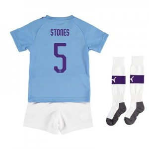 Manchester City Cup Home Mini Kit 2019-20 with Stones 5 printing