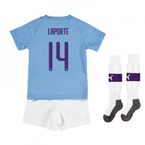 Manchester City Cup Home Mini Kit 2019-20 with Laporte 14 printing