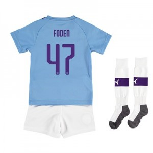 Manchester City Cup Home Mini Kit 2019-20 with Foden 47 printing