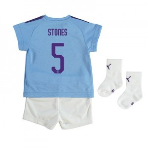 Manchester City Cup Home Baby Kit 2019-20 with Stones 5 printing