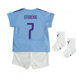 Manchester City Cup Home Baby Kit 2019-20 with Sterling 7 printing
