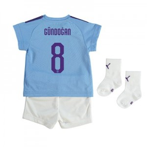 Manchester City Cup Home Baby Kit 2019-20 with Gündogan 8 printing