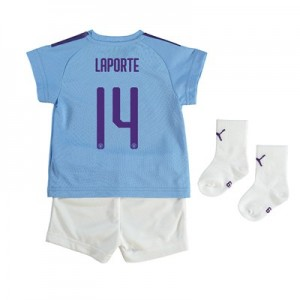 Manchester City Cup Home Baby Kit 2019-20 with Laporte 14 printing