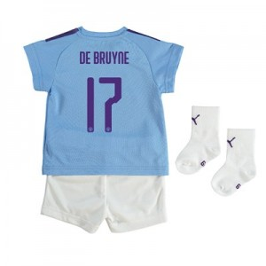 Manchester City Cup Home Baby Kit 2019-20 with De Bruyne 17 printing