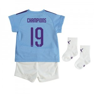 Manchester City Cup Home Baby Kit 2019-20 with Champions 19 printing