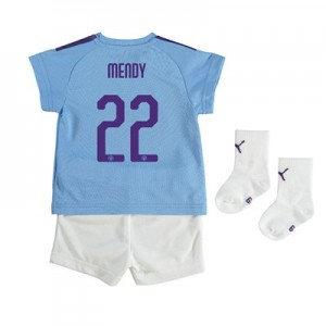 Manchester City Cup Home Baby Kit 2019-20 with Mendy 22 printing