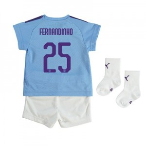 Manchester City Cup Home Baby Kit 2019-20 with Fernandinho 25 printing