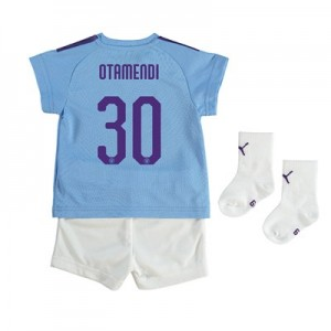 Manchester City Cup Home Baby Kit 2019-20 with Otamendi 30 printing