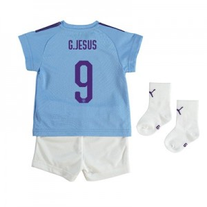 Manchester City Cup Home Baby Kit 2019-20 with G.Jesus 9 printing
