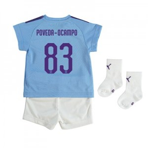 Manchester City Cup Home Baby Kit 2019-20 with Poveda-Ocampo 83 printing