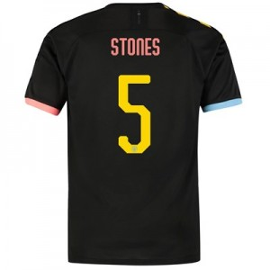 Manchester City Cup Authentic Away Shirt 2019-20 with Stones 5 printing