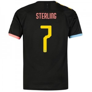 Manchester City Cup Authentic Away Shirt 2019-20 with Sterling 7 printing