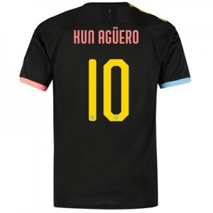 Manchester City Cup Authentic Away Shirt 2019-20 with Kun Agüero  10 printing