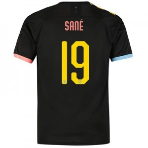 Manchester City Cup Authentic Away Shirt 2019-20 with Sané 19 printing