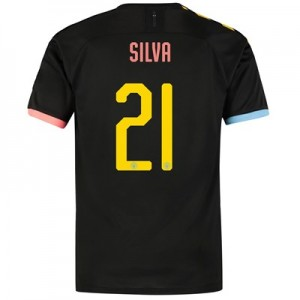 Manchester City Cup Authentic Away Shirt 2019-20 with Silva 21 printing