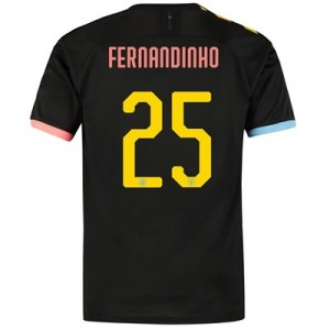 Manchester City Cup Authentic Away Shirt 2019-20 with Fernandinho 25 printing