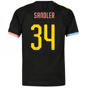 Manchester City Cup Authentic Away Shirt 2019-20 with Sandler 34 printing