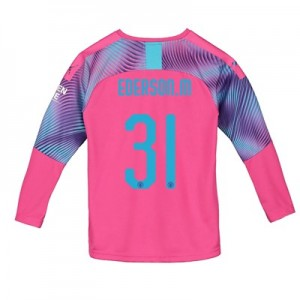 Manchester City Cup Away Goalkeeper Shirt 2019-20 - Kids with Ederson M. 31 printing