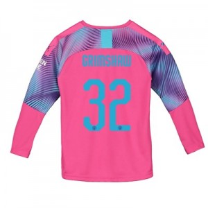 Manchester City Cup Away Goalkeeper Shirt 2019-20 - Kids with Grimshaw 32 printing